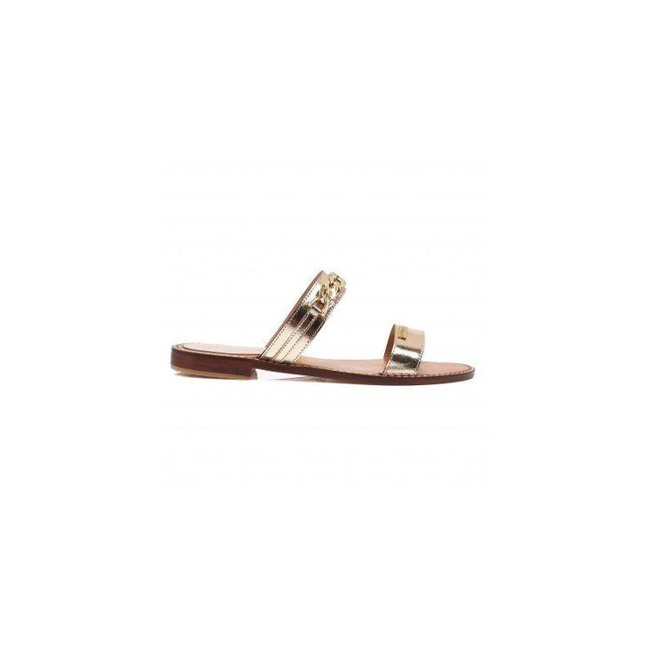 Sandales cuir doré femme Ballet LES TROPEZIENNES par M. Belardi