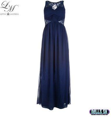 Dámske oblečenie   Dámske šaty   Little Mistress Embellished Maxi šaty tmavomodré   www.nells.sk - Parfumy, kozmetika a oblečenie svetových značiek.