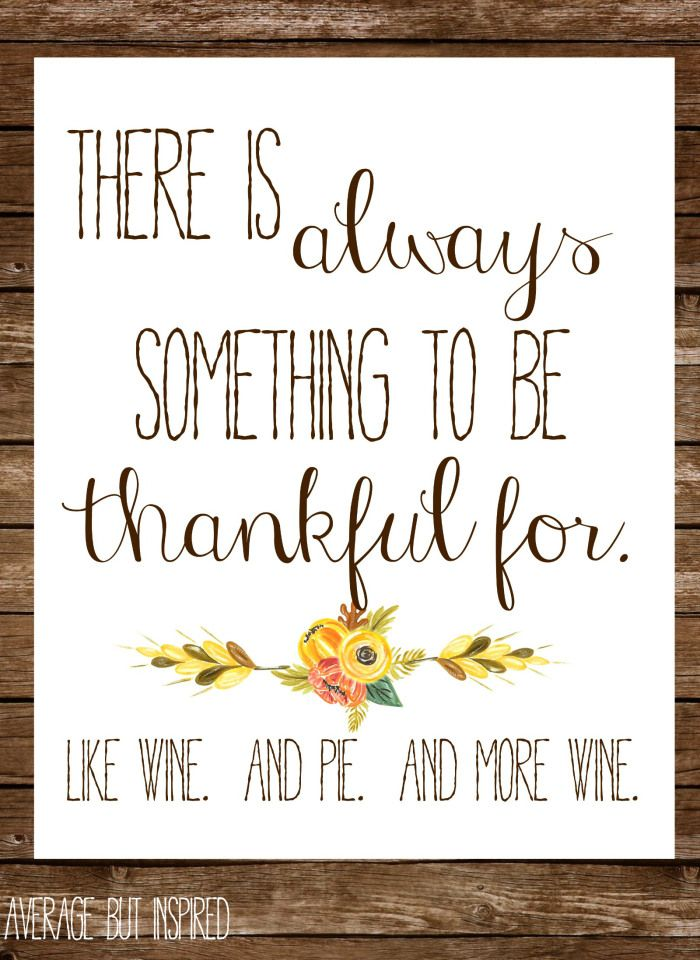 This free fall printable is hilarious!  Display it at Thanksgiving or give it as a hostess gift.  Click through to download.