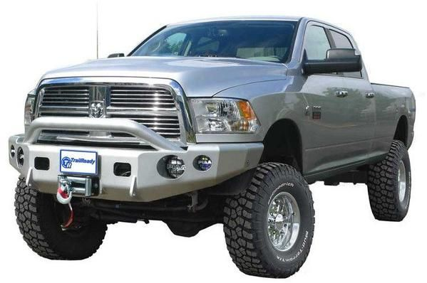 TrailReady Dodge Ram 2500/3500 2010-2016 Extreme Duty Front Winch Bumper With Top Hoop, Prerunner Style.