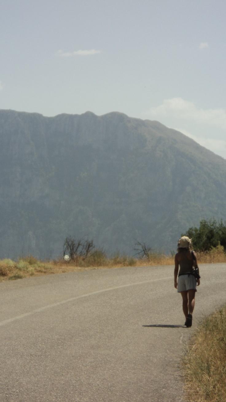 a friend walking.. Papigo village