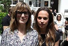 Alicia Vikander and director Lisa Langseth at the 2012 Cannes Film Festival.