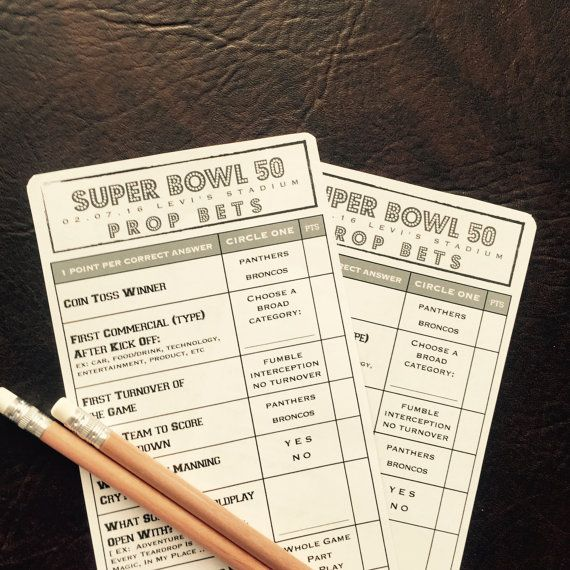 2019 Super Bowl 53 Prop Bet Pool Game // Patriots + Rams ...