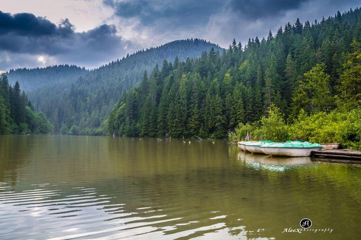 Red Lake Bicaz Romania by Alex B