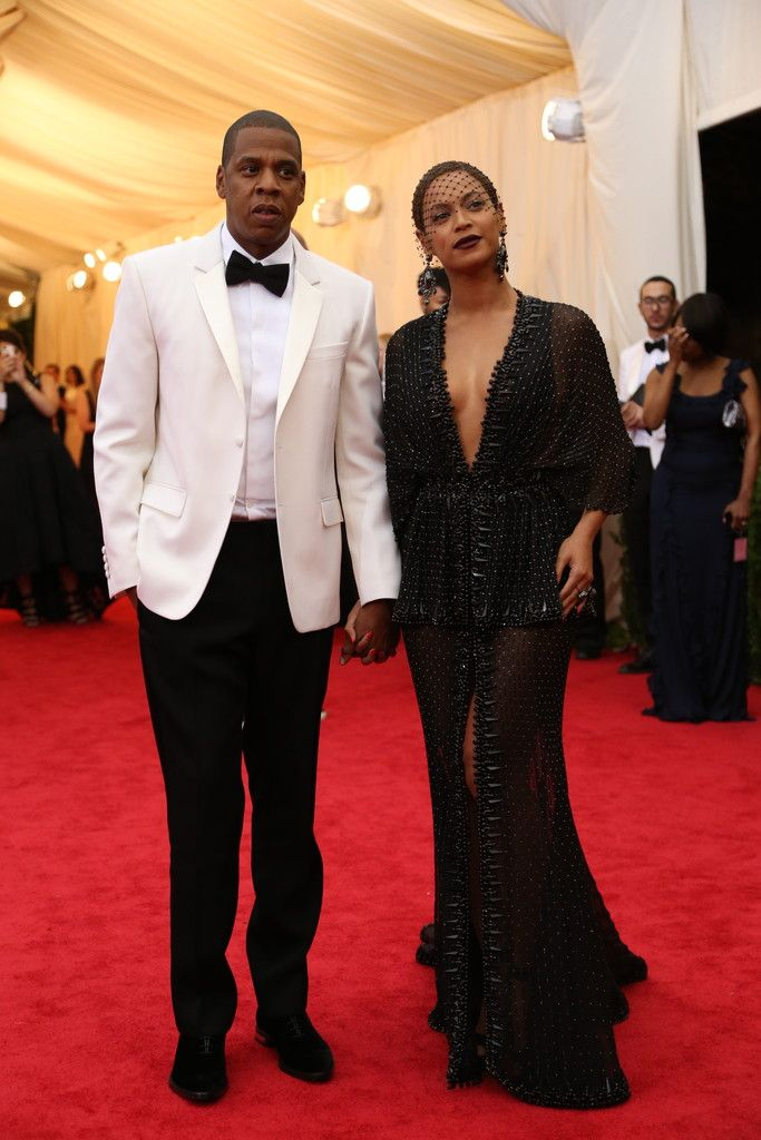 """""""2014, Charles James: Beyond Fashion"""" - Jay-Z and Beyonce, both in Givenchy by Riccardo Tisci"""