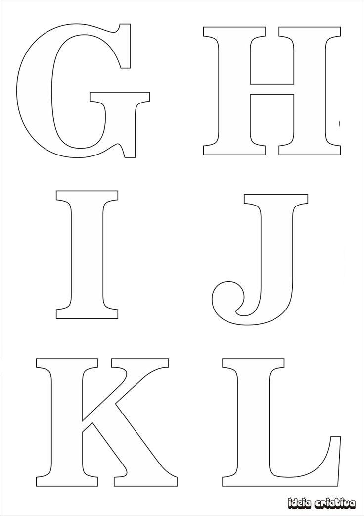 Molde de letras para imprimir alfabeto completo fonte vazada