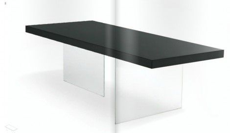 Table AIR suspendu en bois laqué design Daniele Lago par Lago - La Verriere