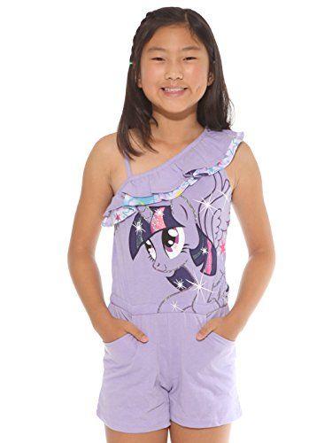 My Little Pony Twilight Sparkle Girls Purple One Shoulder Romper (Large) @ niftywarehouse.com