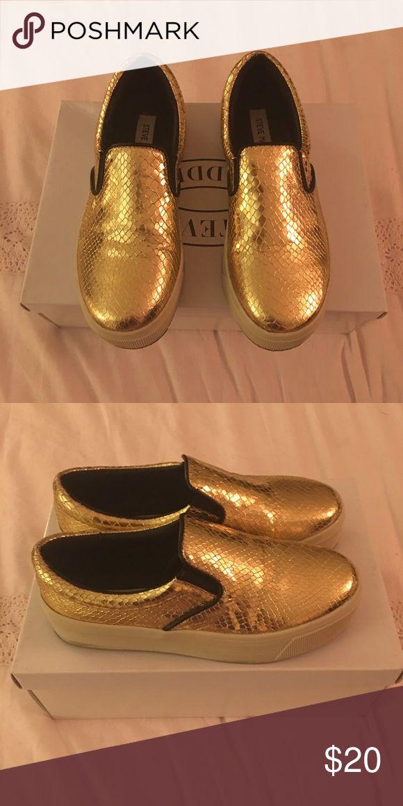 Steve Madden Espadrilles Steve Madden Metallic Gold Espadrilles Steve Madden Shoes Espadrilles