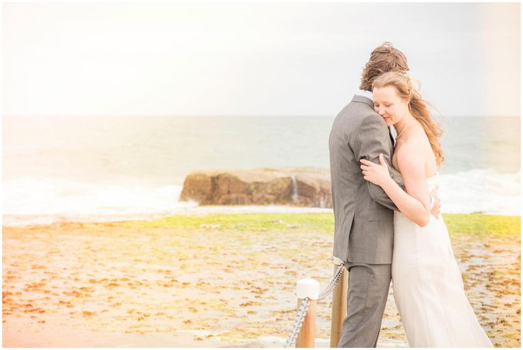 Mona Vale Sydney Wedding Photographer at the Robert Dunn Reserve shooting a gorgeous couple down on the beach. Natural wedding photography.