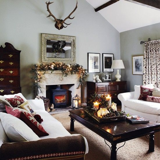 Traditional Living Room Soft Grey Walls Lend A Feeling Of Intimacy