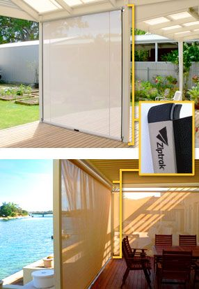 Operating blinds can be a cumbersome and time consuming task, Ziptrak® track guided blind system takes out all the hard work, leaving you with perfect shade, wind and UV protection and an elegant blind that will enhance the look and feel of your structure; home or business. http://www.1800blinds.com.au/ziptrak.html