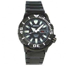 Seiko Automatic Scuba Diver's 200m Black Night Monster Watch SZEN002