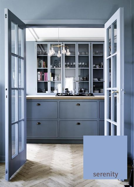 Say 'Yes' to 'Serenity' in any room of your home! Immensely versatile, use this shade in any quantity you like and it will never overpower, simply sooth and calm you, like  hot bubble bath after a long day. In case you couldn't tell, we LOVE this colour, and will be recommending Farrow & Ball's  'Pitch Blue' and 'Lulworth Blue' for all our cabinetry as a perfect complement to our solid wood worktops. http://www.deterra-kitchens.co.uk/blog/page/2/