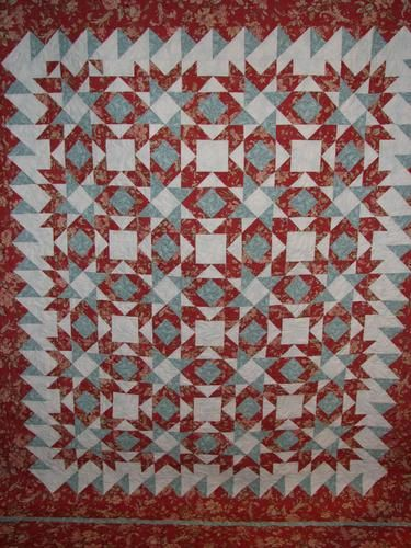 Sara's Red and Teal Quilt