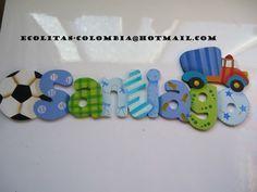 cuadros con nombres para niños porcelanicron - Buscar con Google