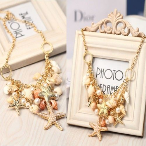 Sea Shell #Starfish #Faux #Pearl #Necklace #trendy Price $19.95