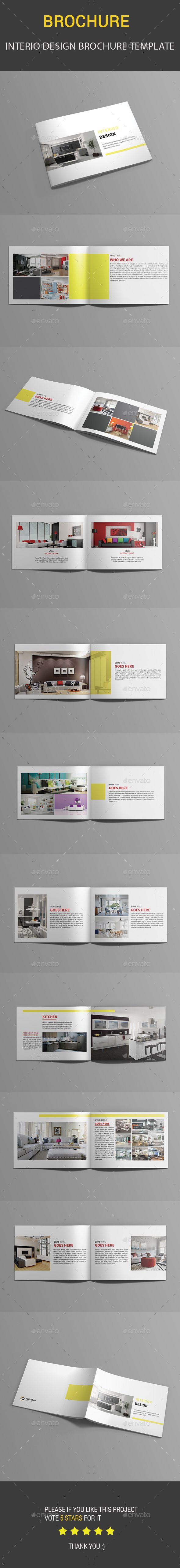 Interio Design Brochure Template InDesign INDD. Download here…