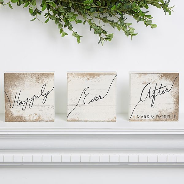 15265 Happily Ever After Personalized Shelf Blocks