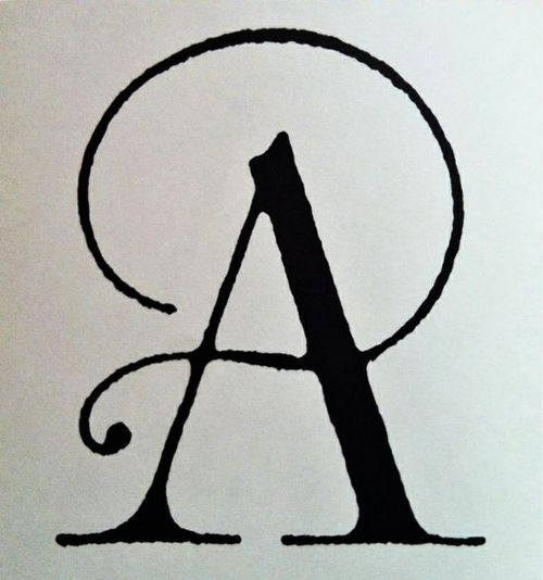 letter a: an unknown font of beauty.