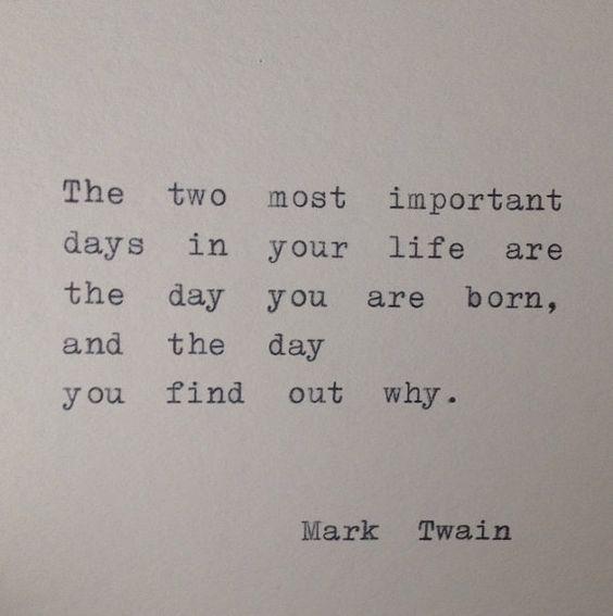 Mark Twain Zitat von Hand auf Schreibmaschine getippt