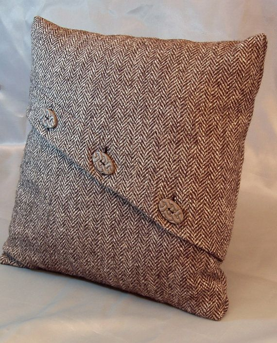 Harris Tweed  cushion or pillow cover,decorative pillow hand-made in Britain