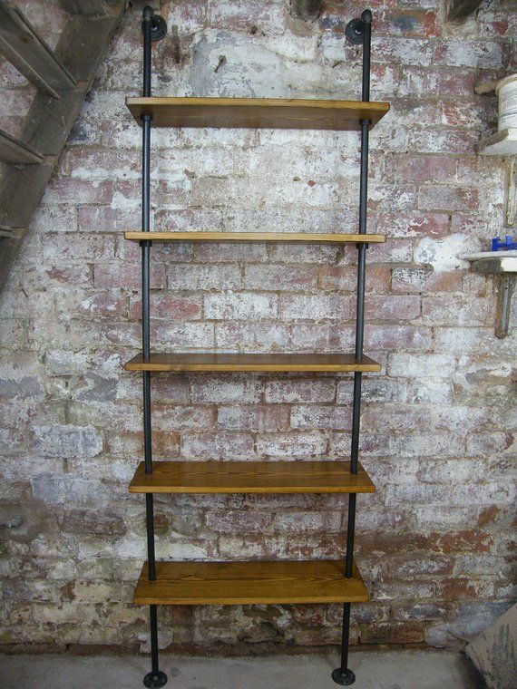 Loft Style Adjustable Industrial Steel Pipe Bookcase Shelving