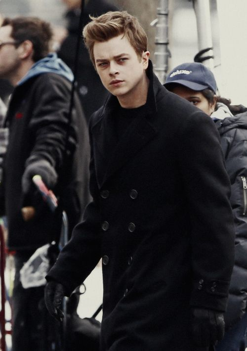 Dane DeHaan as James Dean on the set of 'Life' in Toronto, February 19th.