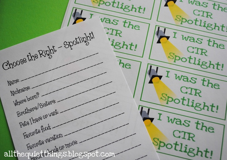 All The Quiet Things: Primary Spotlights