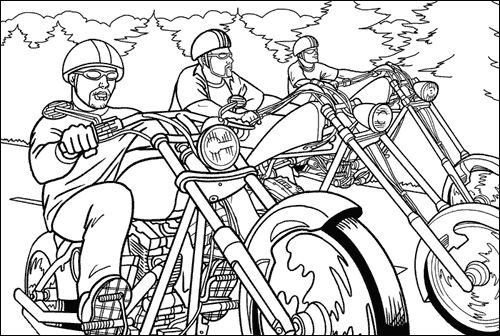 Motorcycles , chopper | Dirt Bike | Motorcycle Coloring Pages | racing - раскраски - تلوين صفحات - 著色頁 - 着色ページ - halaman mewarnai - #9
