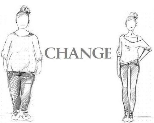 Change the way you look by healthy eating & exercise