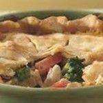 Turkey, Ham Hock, Sausage and Stuffing Pie