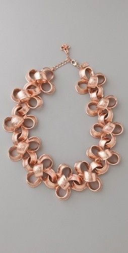 Rose Gold Ribbon Necklace