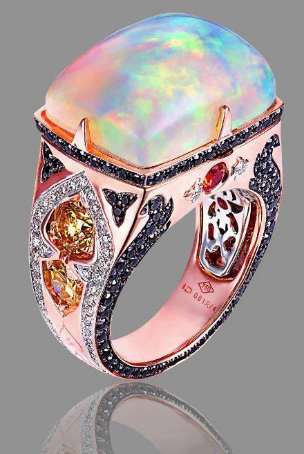 """❦ Kaia Jewelry~ This glow is called - """"opalescence."""" Certainly different with these amazing colors..STUNNING PIECE which is now part of my wearable Art. BellaDonna"""