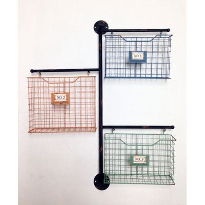 wilco home store it metal 3basket wall file organizer
