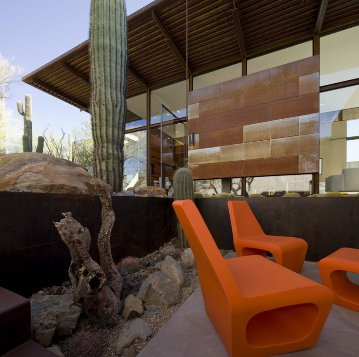 The Brown Residence by Lake|Flato Architects (Project Team: Ted Flato, FAIA, Karla Greer, AIA, Brian Comeaux, AIA, Parrish Kyle, Assoc. AIA, Conor Samuels) / Scottsdale, Arizona, United States