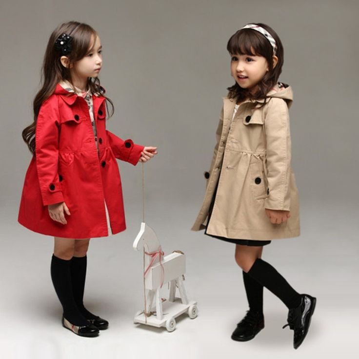 41.00$  Buy here - http://ali1td.worldwells.pw/go.php?t=32726816379 - 2-12y Girls Windbreaker Children Solid Trench Coats 2016 Autumn Jackets For Girls Outwear Teenage Kids Tops Veste Fille Enfants 41.00$