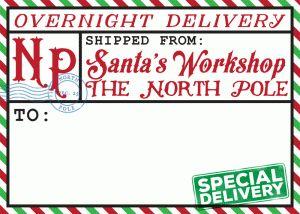 Silhouette Design Store - View Design #70628: north pole shipping label