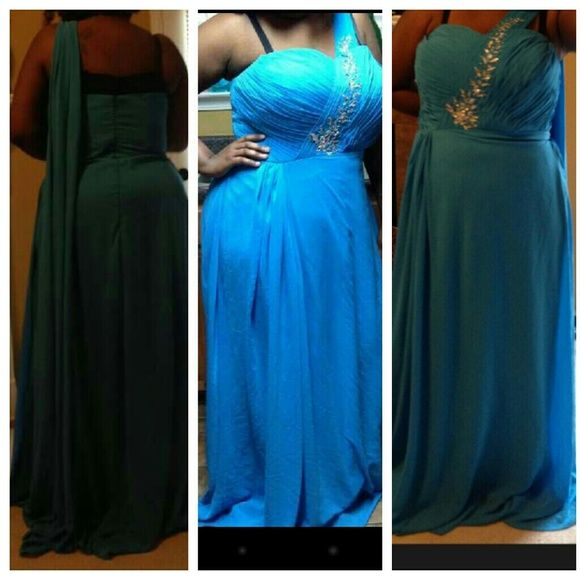 Prom/formal dress Size 22 can be taken in to a 18 and let out to a 24 asking $80 but willing to negotiate Dresses