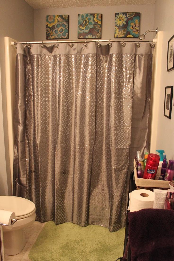 46 best bathroom decor images on pinterest bathroom ideas home teen girls bathroom grey and lime green