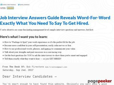 Product Name: + Job Interview Questions & Answers Guide   Click here to get + Job Interview Questions & Answers Guide at discounted price while it's still available…    All orders are protected by SSL encryption – the highest industry standard for online security from...
