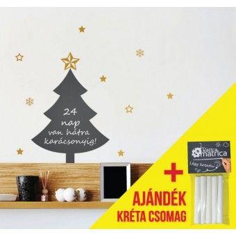 Karácsonyfa matrica krétával lehet írni rá! 5599 Ft - http://katicamatrica.hu/falmatrica/Szezonalis/Karacsony/Karacsonyfa-matrica