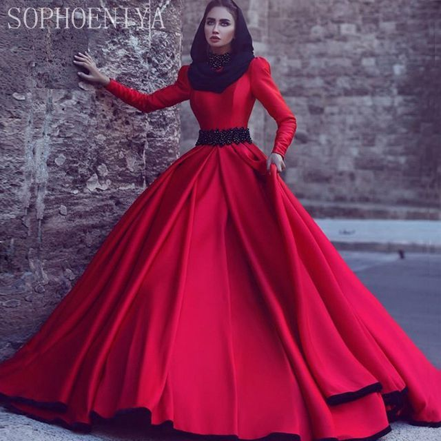 Awesome New Years Eve Dresses Custom Made New Design Long Sleeve Muslim Evening Dress 2017 Ball Gown Red Prom ... Check more at http://24myshop.cf/fashion-style/new-years-eve-dresses-custom-made-new-design-long-sleeve-muslim-evening-dress-2017-ball-gown-red-prom/