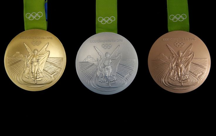 Here's what the finished versions of the Rio Olympic medals look like.