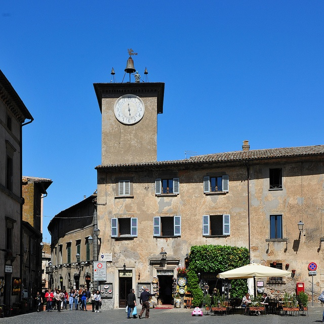 Orvieto, Italy. Ceramiche Giacomini is on the far left.