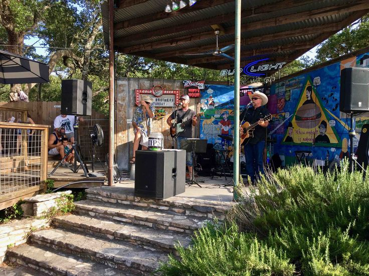 live music at Alamo Springs Cafe in Comfort Texas http://www.placesiveeaten.com/blog/alamo-springs-cafe