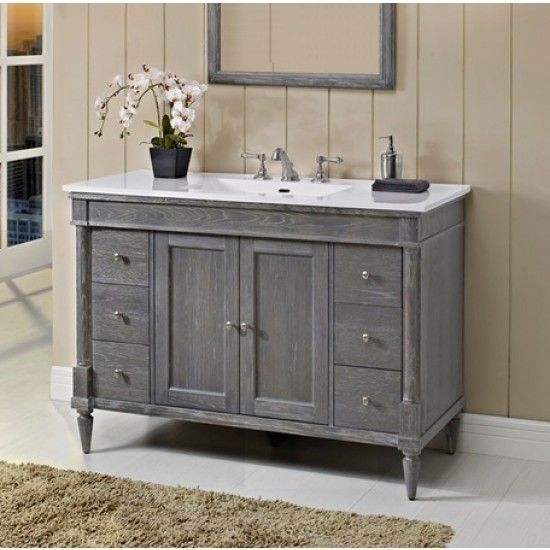 "Fairmont Designs 143-V48 Rustic Chic 48"" Vanity - Silvered Oak"