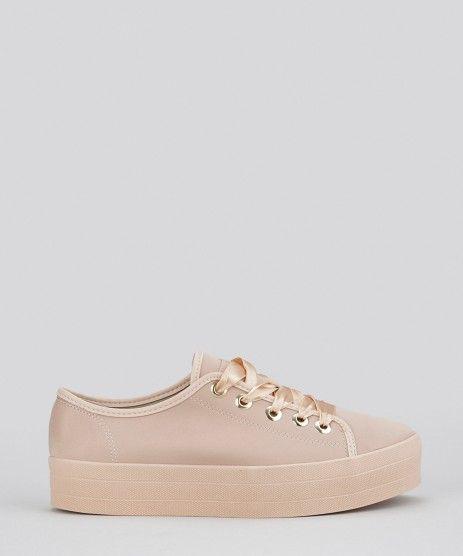c31438b6b Tenis-Moleca-Flatform-em-Suede-Rose-8642730-Rose_1 | shoes em 2019 ...