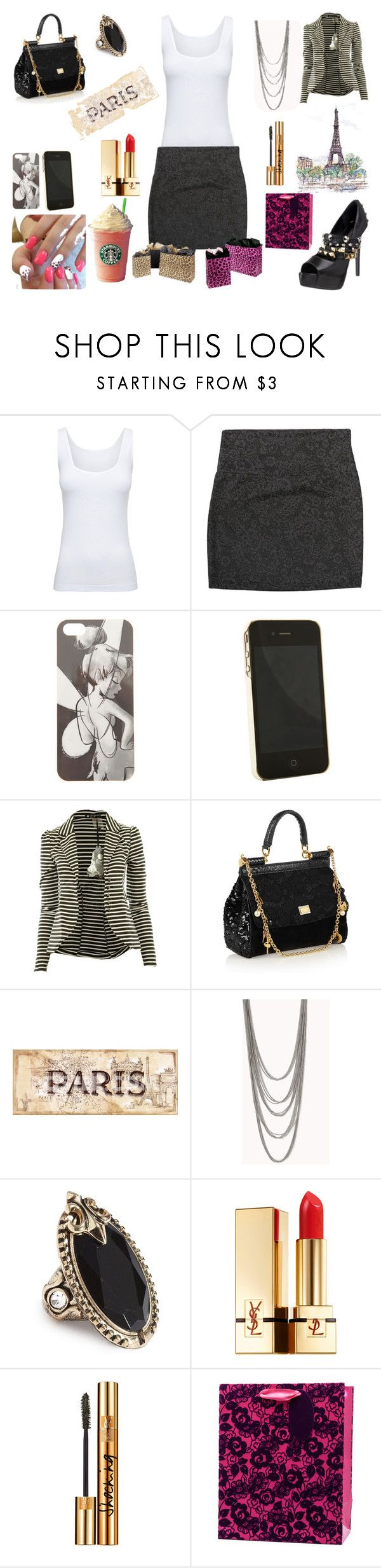 """Shopping in Paris"" by irishchick11 ❤ liked on Polyvore featuring Boody, Ruthie Davis, Disney, Pantone, CO, Dolce&Gabbana, La Tour Eiffel, Forever 21, GUESS and Yves Saint Laurent"