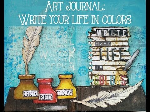 Una nueva página de mi Art Journal en el que uso varias técnicas de Mixed Media…